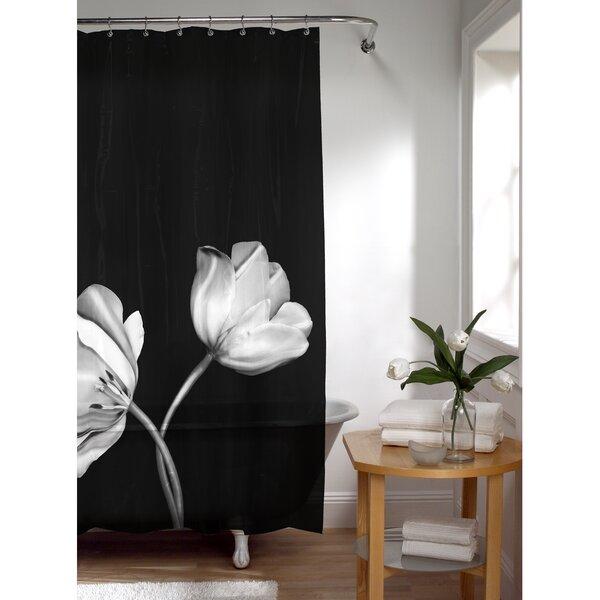 PEVA Tulip Photoreal Shower Curtain by Latitude Run