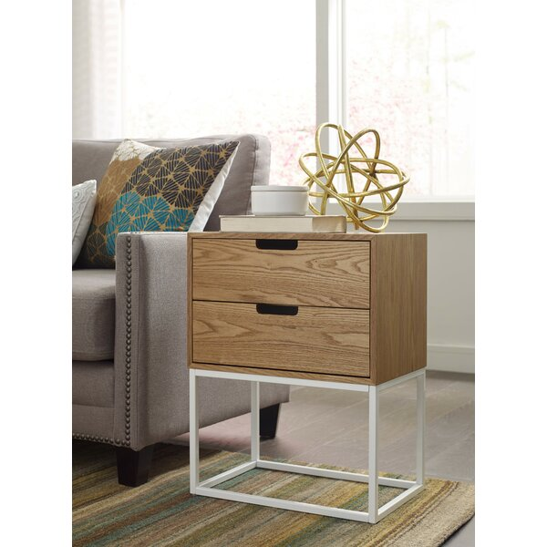 Camden 2 Drawer End Table with Storage by Serta at Home
