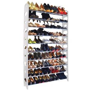 10tier plastic 50 pair shoe rack