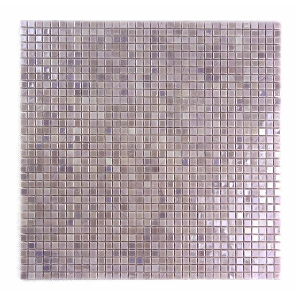 Galaxy Straight 0.31 x 0.31 Glass Mosaic Tile in Light Purple by Abolos