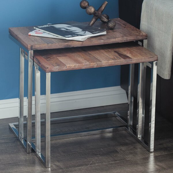 2 Piece Sled Nesting Tables By Cole & Grey