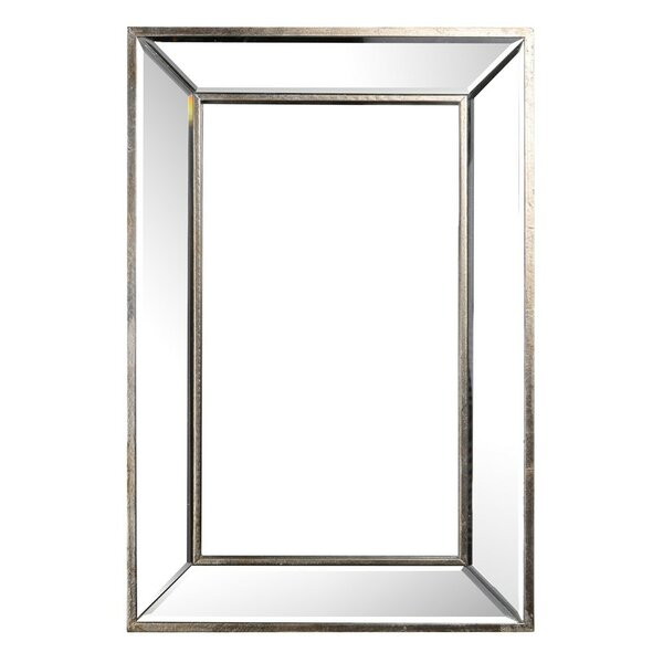 Rivoli Wood And Glass Rectangular Wall Art, Gray Picture Frame by Canora Grey