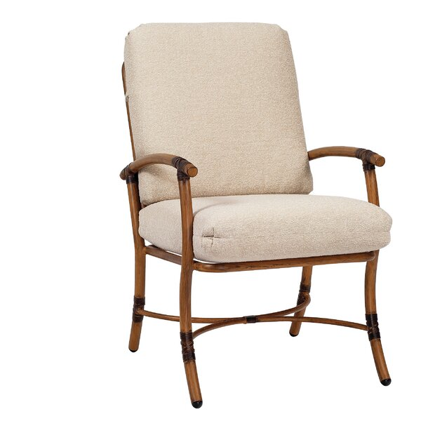 Glade Isle Patio Dining Chair with Cushion by Woodard Woodard