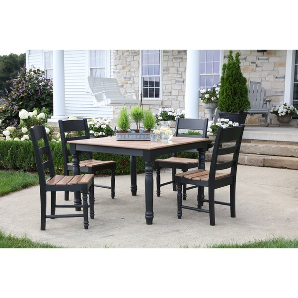 Heritage 5 Piece Dining Set by Rosalind Wheeler