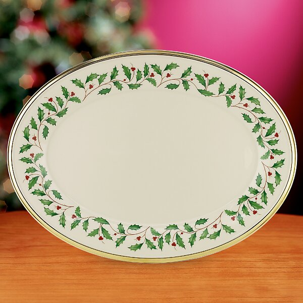 Holiday Oval Platter by Lenox