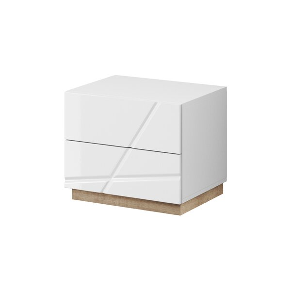 Venatici 2 Drawer Nightstand by Orren Ellis