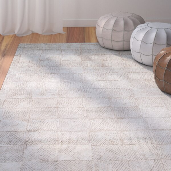Burdette Smoke Blue/Chocolate Chip Area Rug by Bungalow Rose