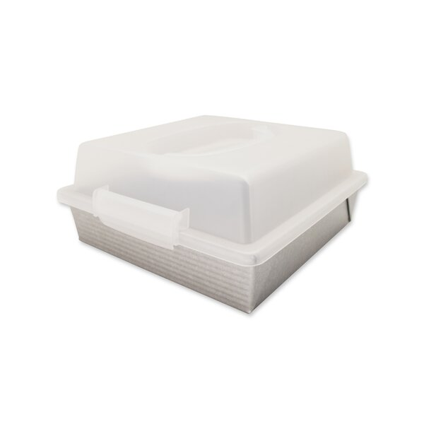 Non-Stick Square 9 Cake Pan and Lid Set by USA Pan