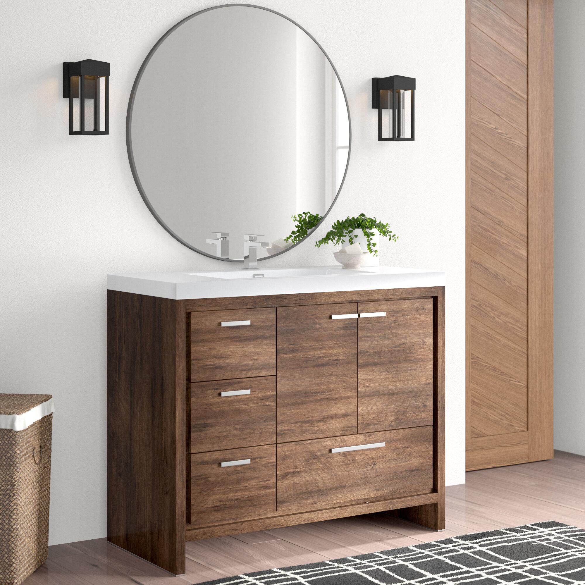 Medium Wood Bathroom Vanities You Ll Love In 2021 Wayfair