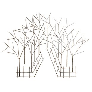 picket fence wall decor wayfair Vintage Conversation Pit metal branches and fence wall d cor