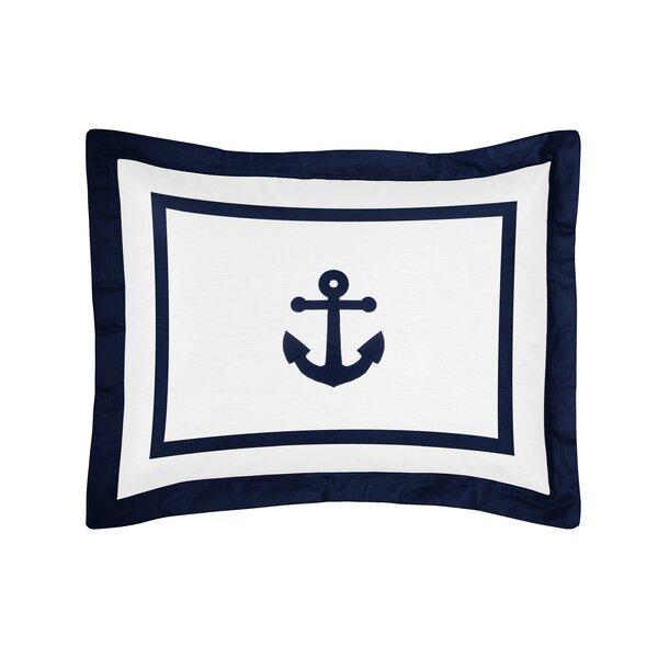 Anchors Away Standard Pillow Sham by Sweet Jojo Designs