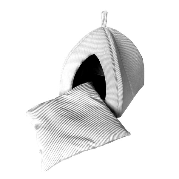 Homewood Soft Ribbed Hooded/Dome with Removable Pillow by Tucker Murphy Pet