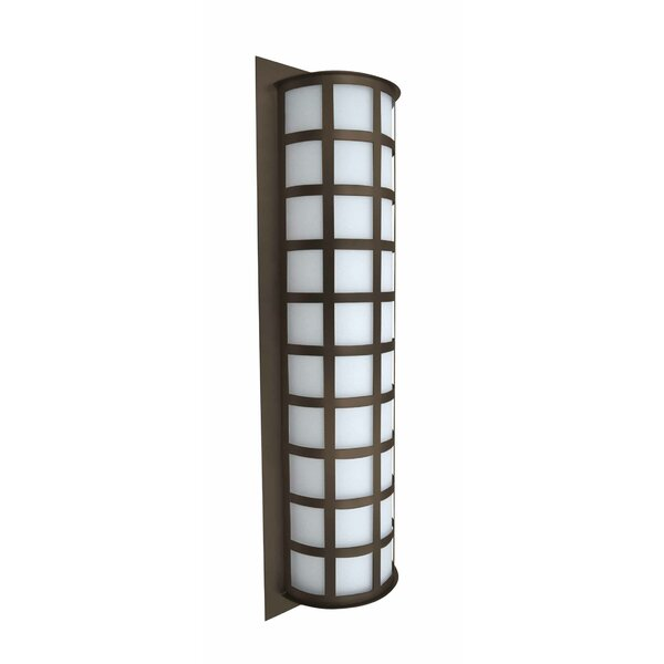 Caufield 3-Light Brown Outdoor Flush Mount by Latitude Run
