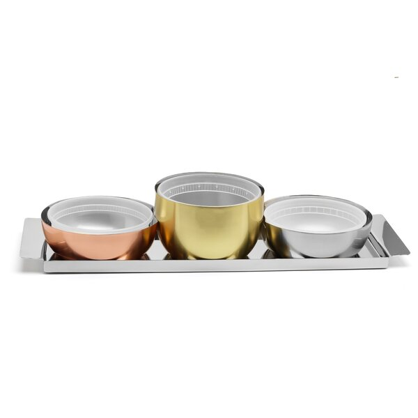 Costa 4 Piece Condiment Server Set by Wrought Studio