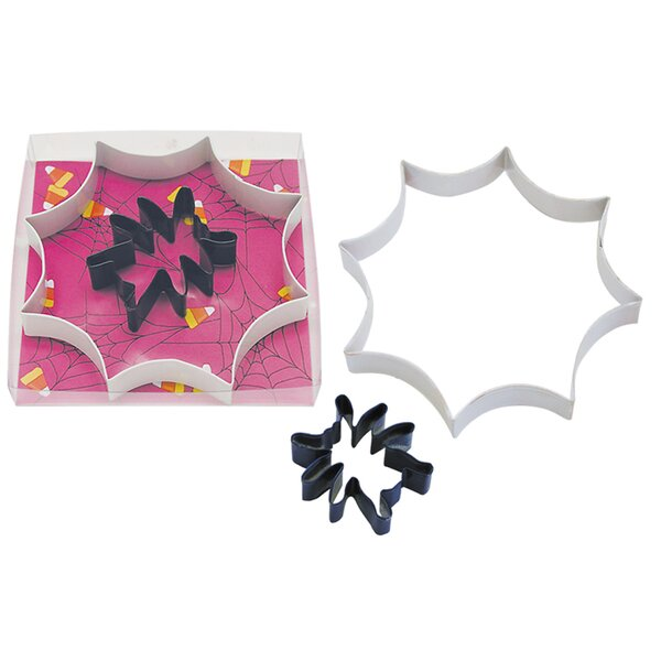2 Piece Spider Web Cookie Cutter Set by R & M International Corp.