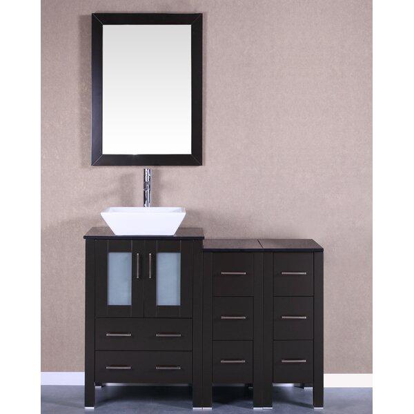 Parsons 48 Single Bathroom Vanity Set with Mirror by Bosconi