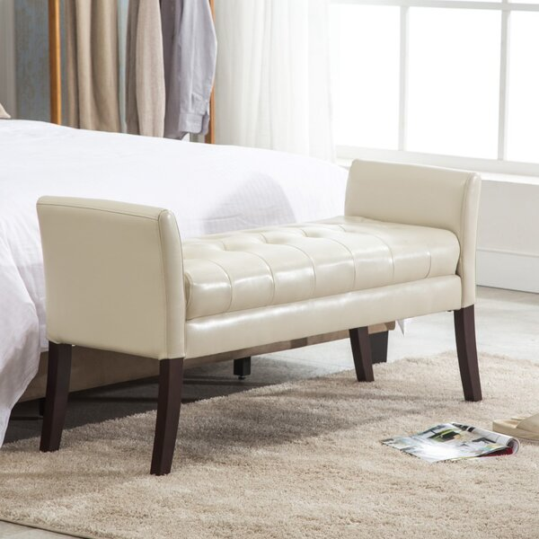Miranda Faux Leather Bench by Porthos Home