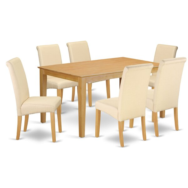 Brandi Kitchen Table 7 Piece Solid Wood Dining Set by Winston Porter