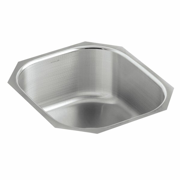 Undertone 15-1/2 L x 17-1/8 W x 7-5/8 Rounded Under-Mount Single-Bowl Kitchen Sink by Kohler