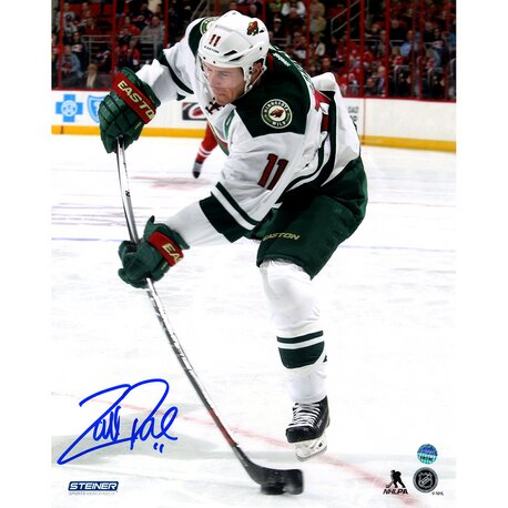 Zach Parise Signed Minnesota Wild Stick Flex Photographic Print by Steiner Sports