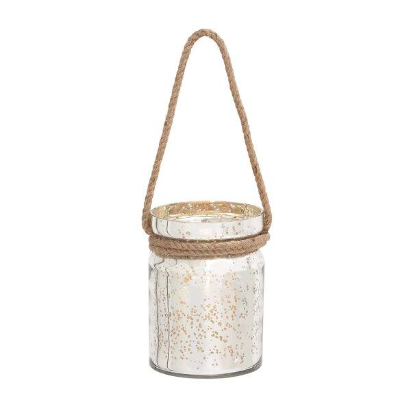 Glass Lantern by Woodland Imports