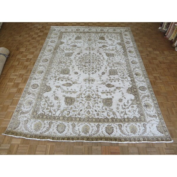 One-of-a-Kind Padro Hand-Knotted Beige/Brown Area Rug by Bloomsbury Market