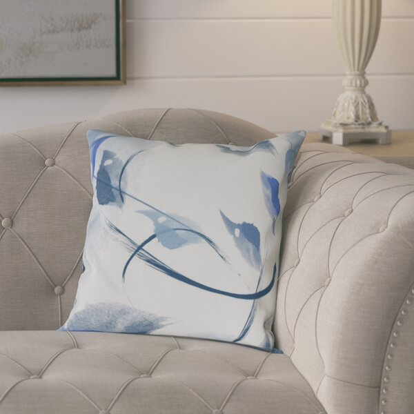 Roscoe Windy Floral Throw Pillow by August Grove