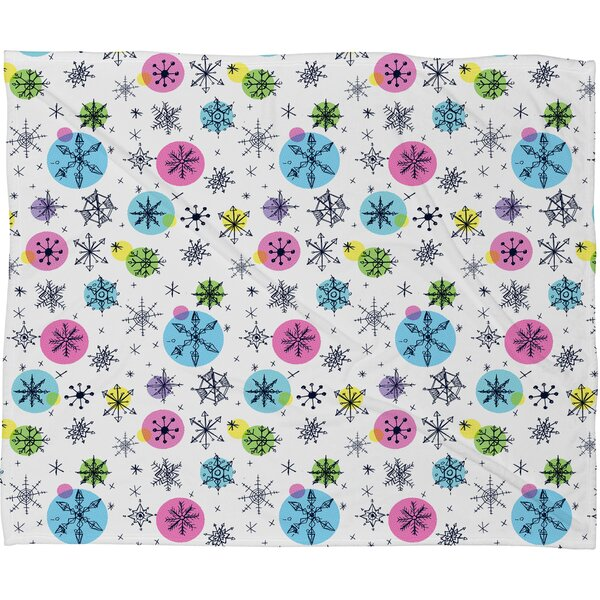 Sam Osborne Snowflake Doodles Plush Fleece Throw Blanket by Deny Designs