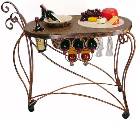 Bird of Paradise Bar Cart by Metrotex Designs