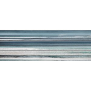 Slatted Beach' Painting Print on White Wood by Beachcrest Home