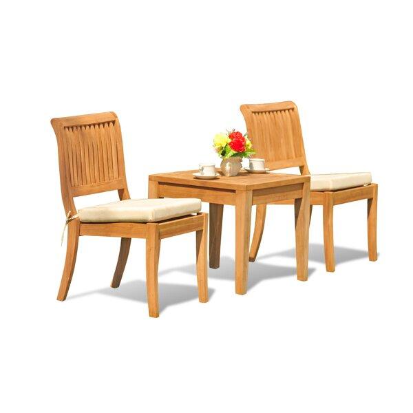 Noida 3 Piece Teak Dining Set by Teak Smith