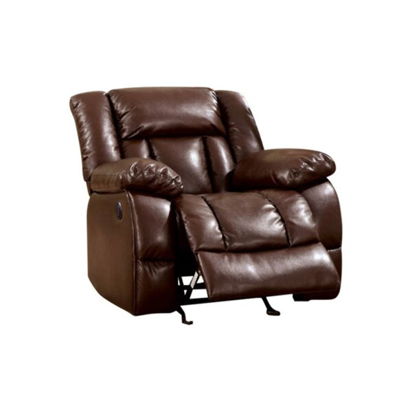 Demetris Transitional Leather Recliner [Red Barrel Studio]