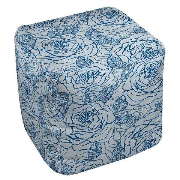 Rose Tonic Pouf by Manual Woodworkers & Weavers
