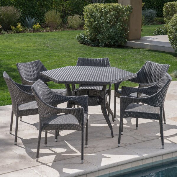 7 Piece Dining Set by Winston Porter