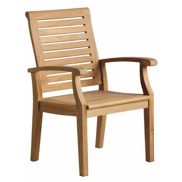 Lowery Teak Patio Dining Chair by Rosecliff Heights Rosecliff Heights
