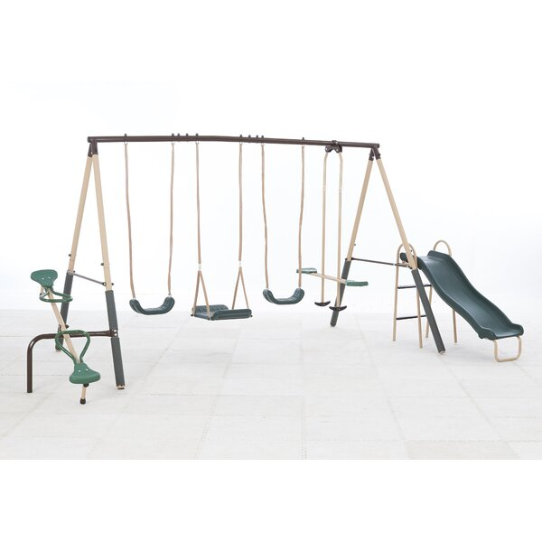 Natural Playland Crestview Swing Set by XDP Recreation