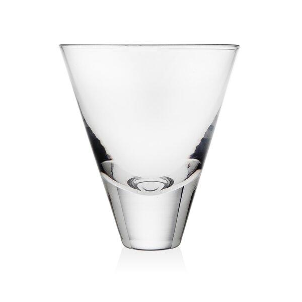 Julian Martini 10 oz. Crystal Cocktail Glass (Set of 4) by Godinger Silver Art Co