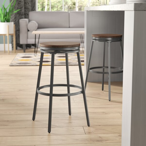 Aquirre 25 Swivel Bar Stool by Mercury Row