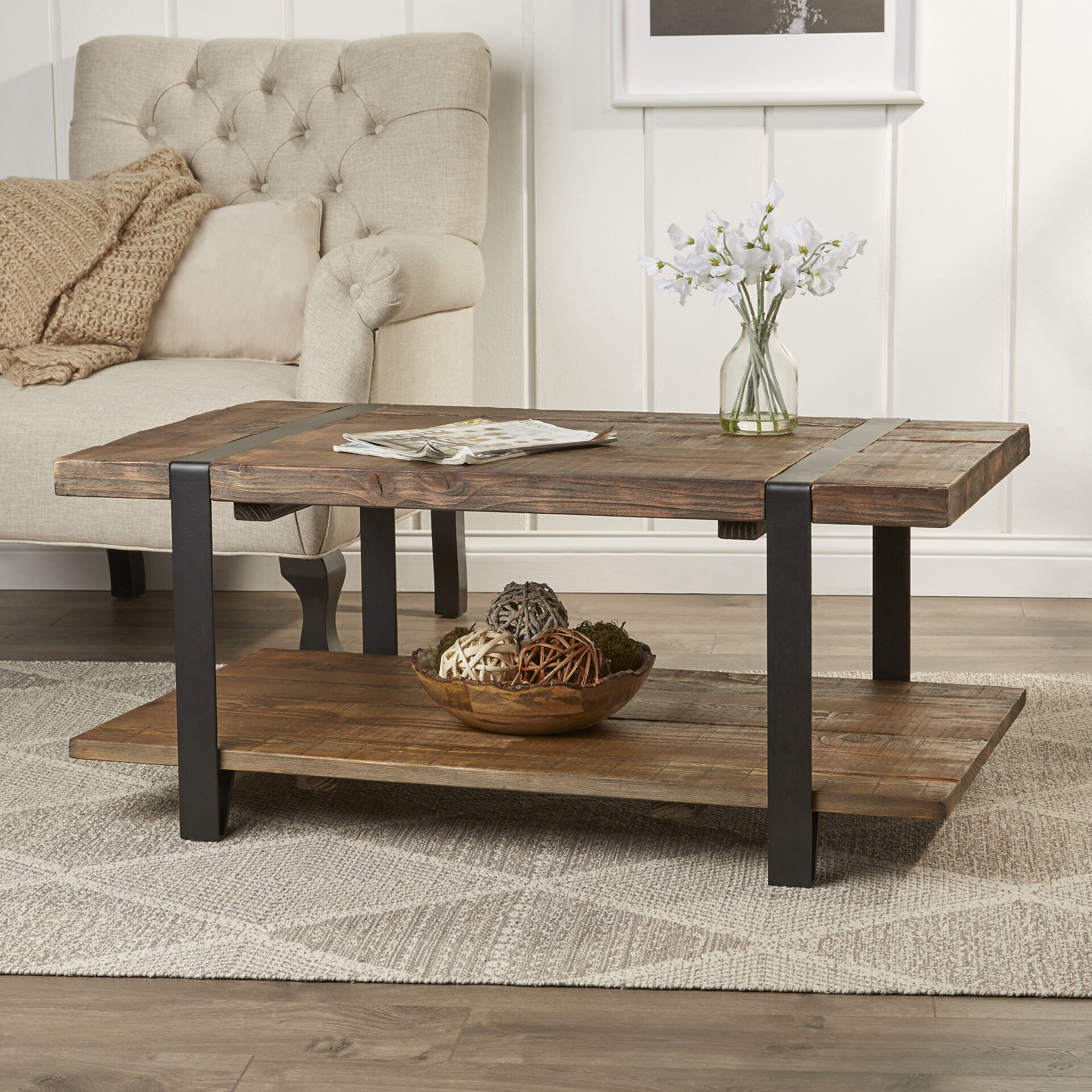 Bosworth 42 Reclaimed Wood Coffee Table