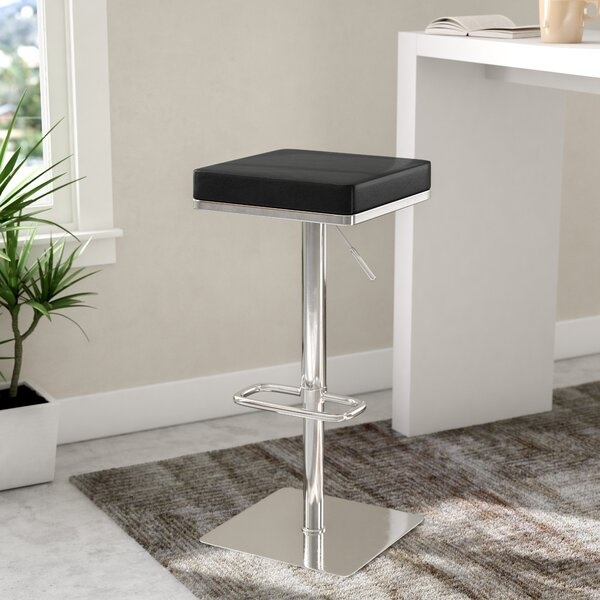 Critchfield Adjustable Height Swivel Bar Stool by Wade Logan