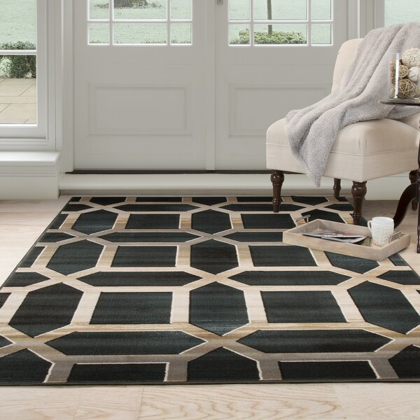 Flushing Teal Area Rug by Wrought Studio