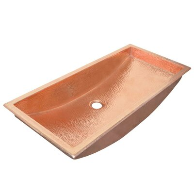 Undermount Sink Metal Rectangular Polished Copper photo