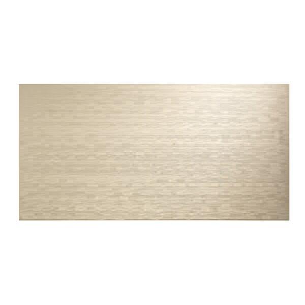 Ripple Horizontal 48 x 96 PVC Backsplash Panel in Almond by Fasade