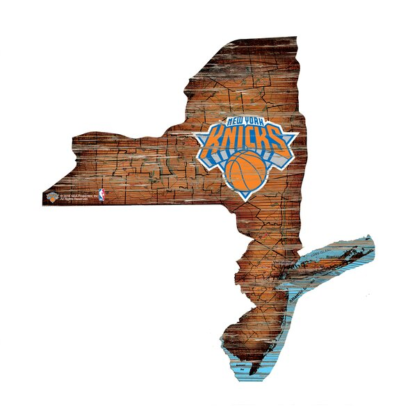 NBA Knicks Distressed State Wall Décor by Fan Creations