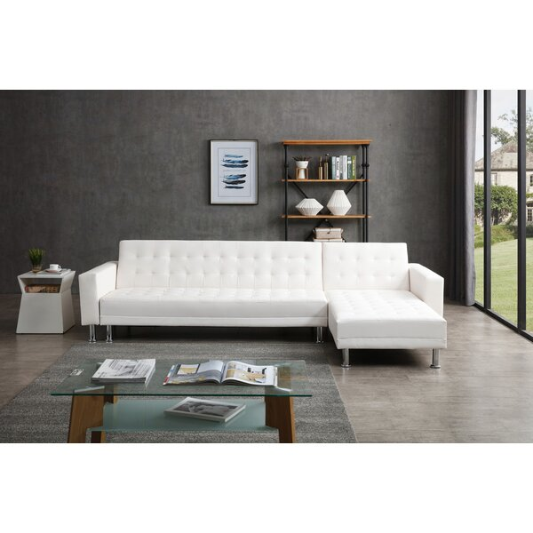 Laux Convertible Reversible Sleeper Sectional by Ivy Bronx Ivy Bronx