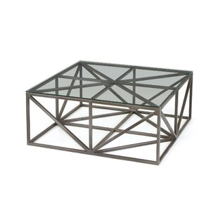 Armistead Square Glass Coffee Table with Tray Top