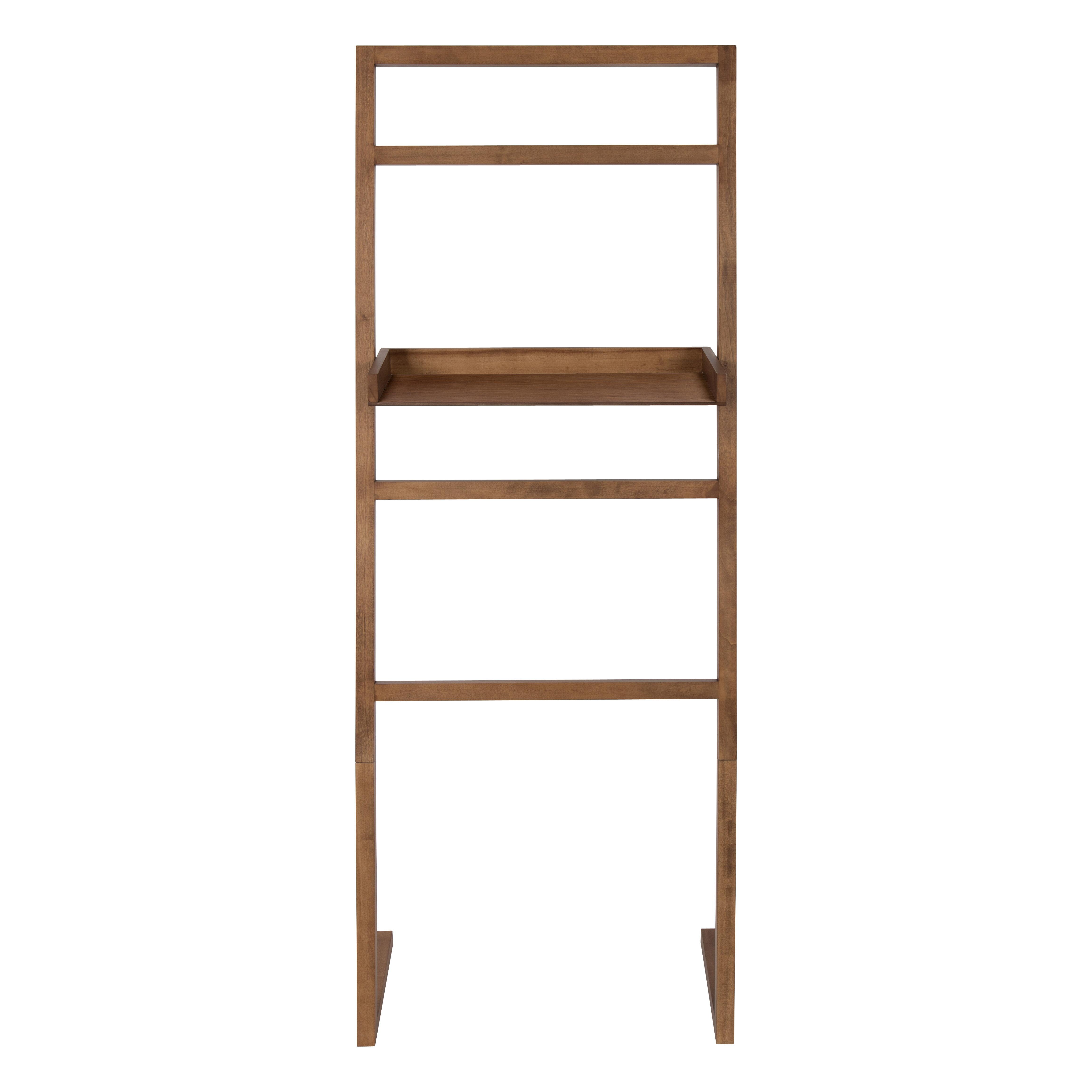 finest selection 6b9a2 c949d McGonigal Decorative Modern Wooden Leaner Ladder Wall Shelf