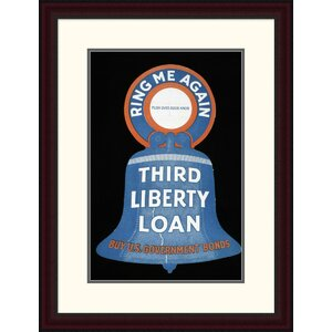 Third Liberty Loan - Buy U.S. Government Bonds Framed Vintage Advertisement by Global Gallery