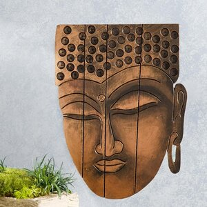 Buddha Face Wall Décor by Wind & Weather