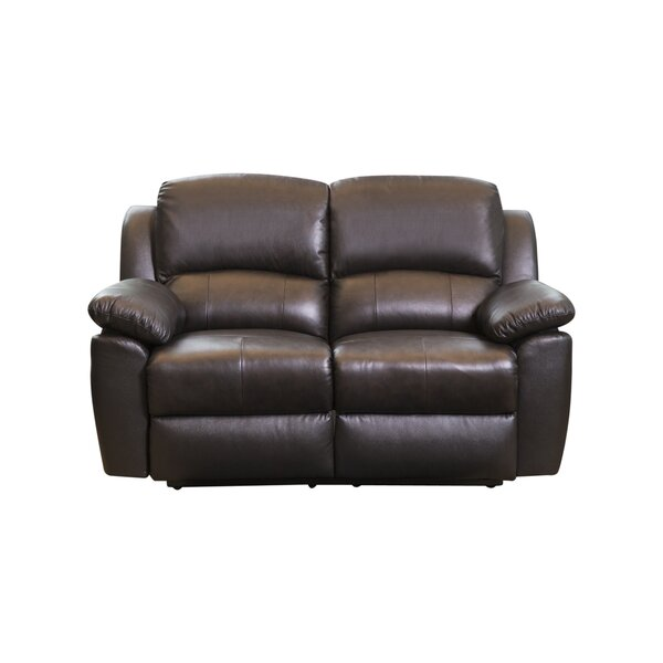#2 Blackmoor Leather Reclining Loveseat By Darby Home Co Herry Up